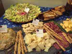 Cheese tray, antipasti tray, cheese and meat platter