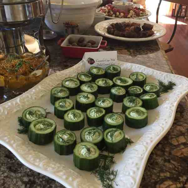 Cucumber Cups Filled with Dilled Cheeses