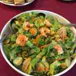 salad, shrimp, greens