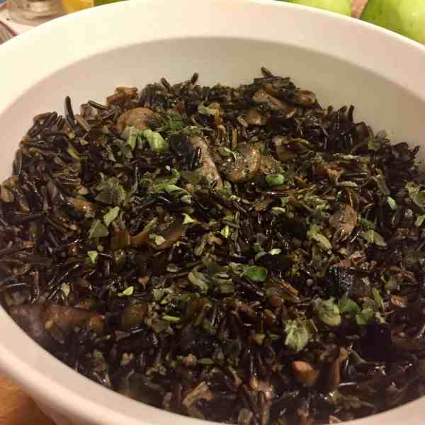 Wild Rice with Mushrooms & Herbs