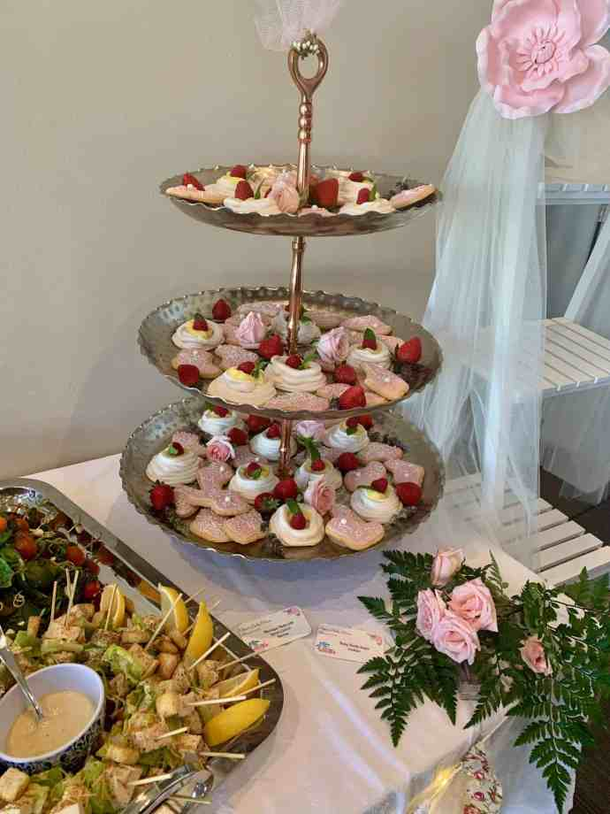 Baby Shower appetizers and desserts