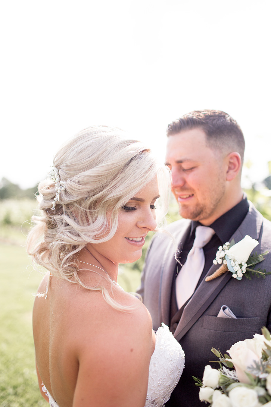 first look for the bride and groom at tomasello winery