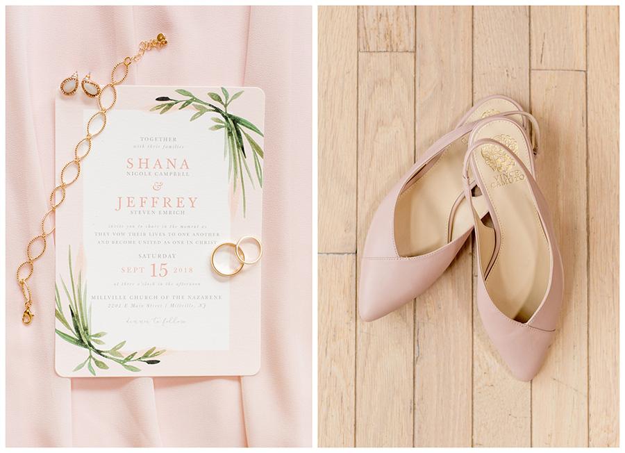 blush wedding details