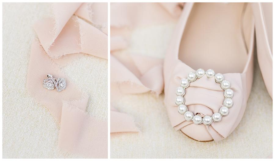 light pink bridal wedding details