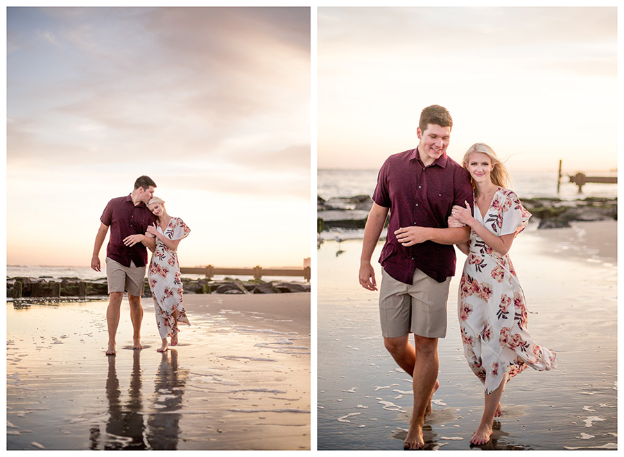 late summer engagement session in ocean city new jersey