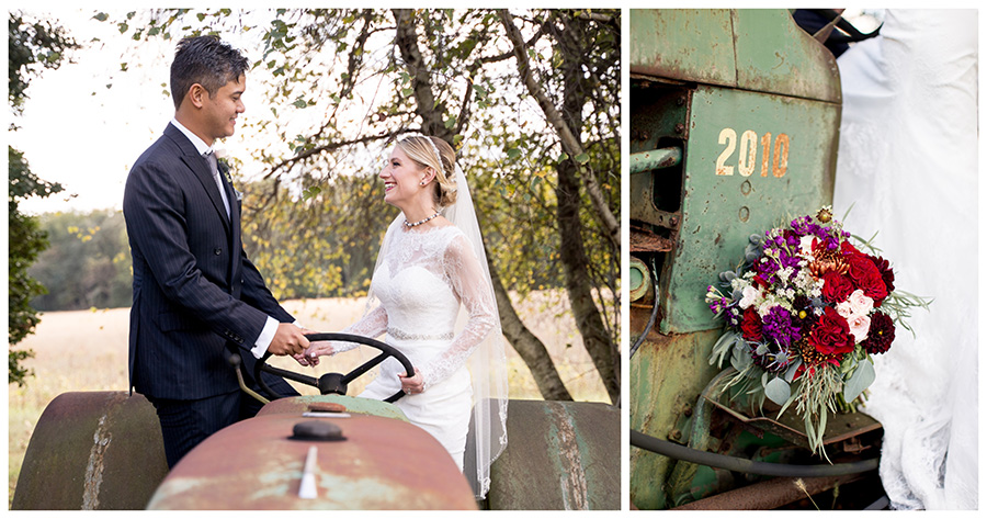 rustic wedding at hillcreek farm