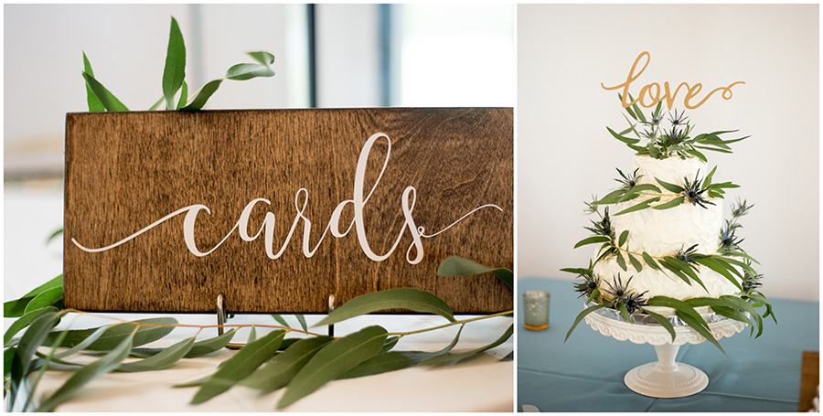 greenery decorates wedding reception at the inn at salem country club