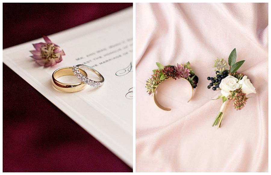 fall wedding floral details