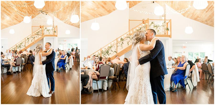 wedding reception at the inn at salem country club
