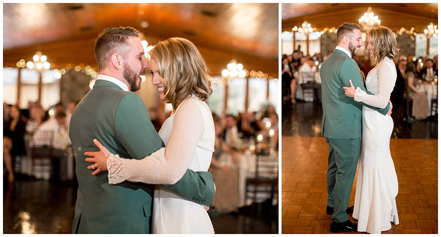 first dance as husband and wife at stroudsmoor country inn wedding