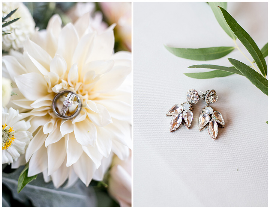 earrings and floral details