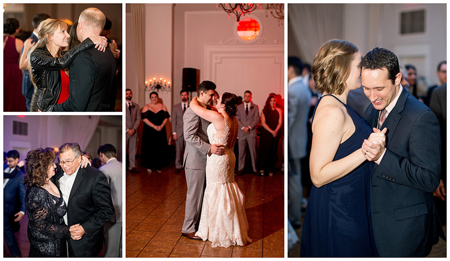 guests dancing together at Eastlyn Golf course wedding reception