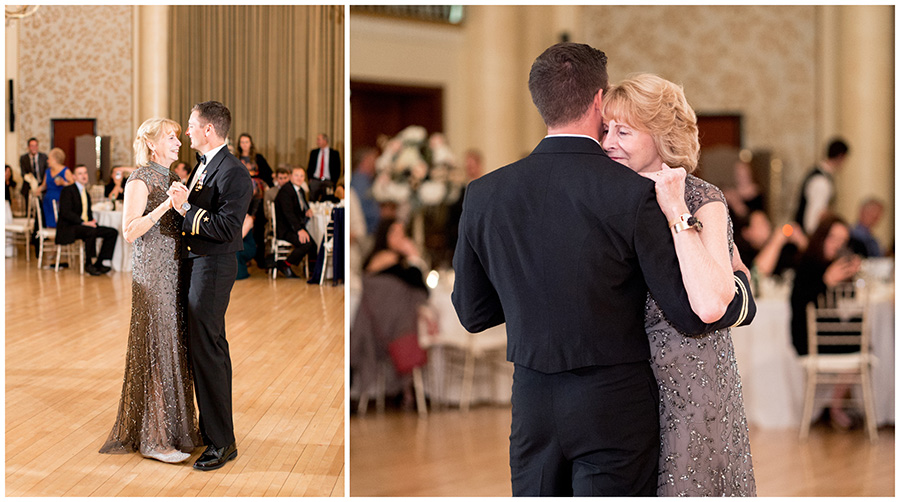 groom dances with his mom at dupont country club wedding