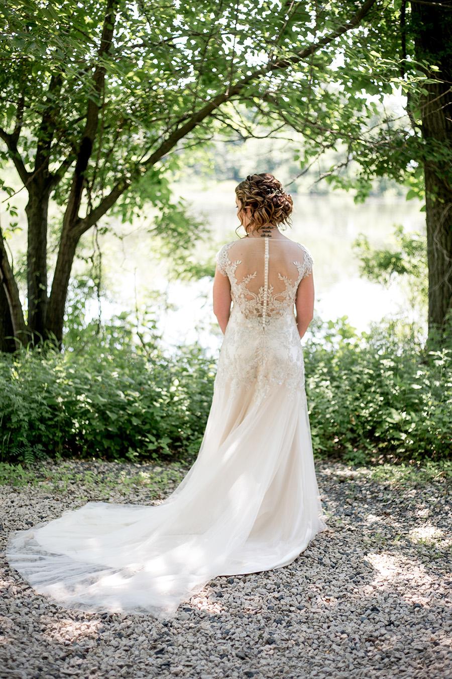 open backed lace wedding dress