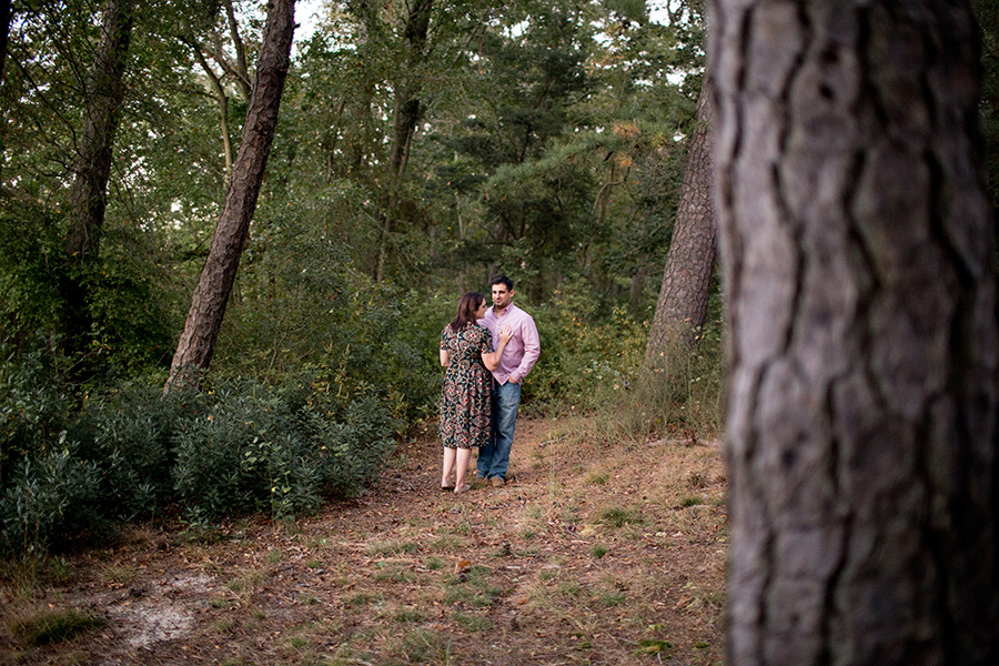 woodsy engagement session in south jersey