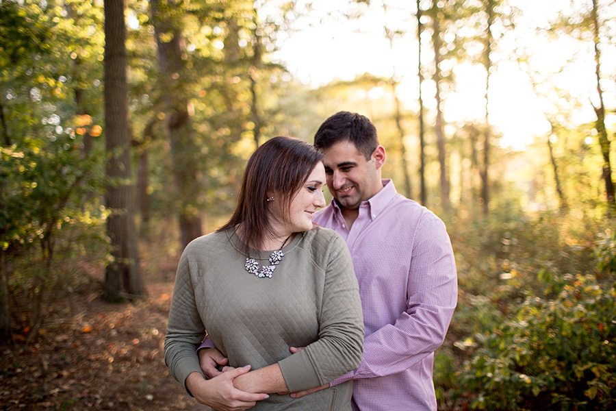 couple posing together at parvin state park