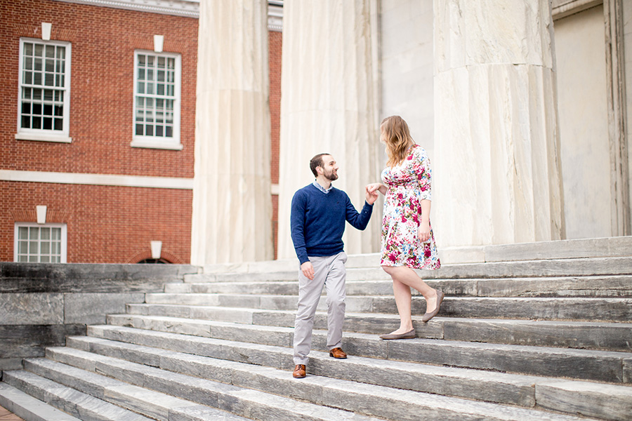 historic engagement session