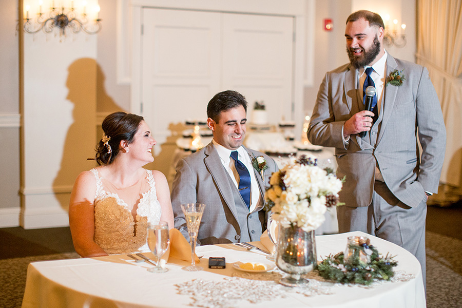 best toasts the couple at their eastlyn golf course wedding reception