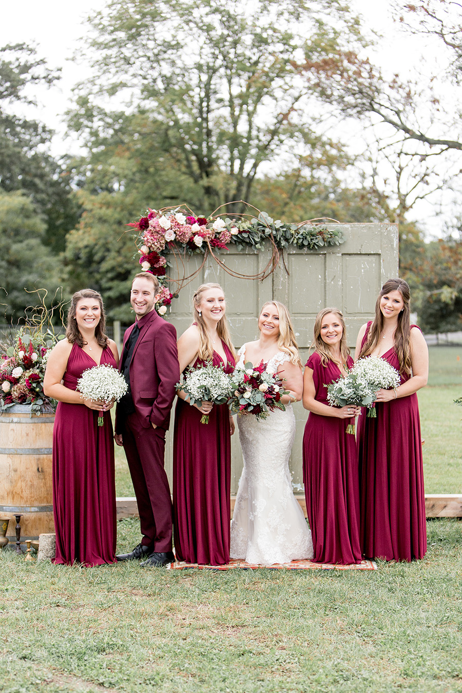 burgundy and sage wedding colors