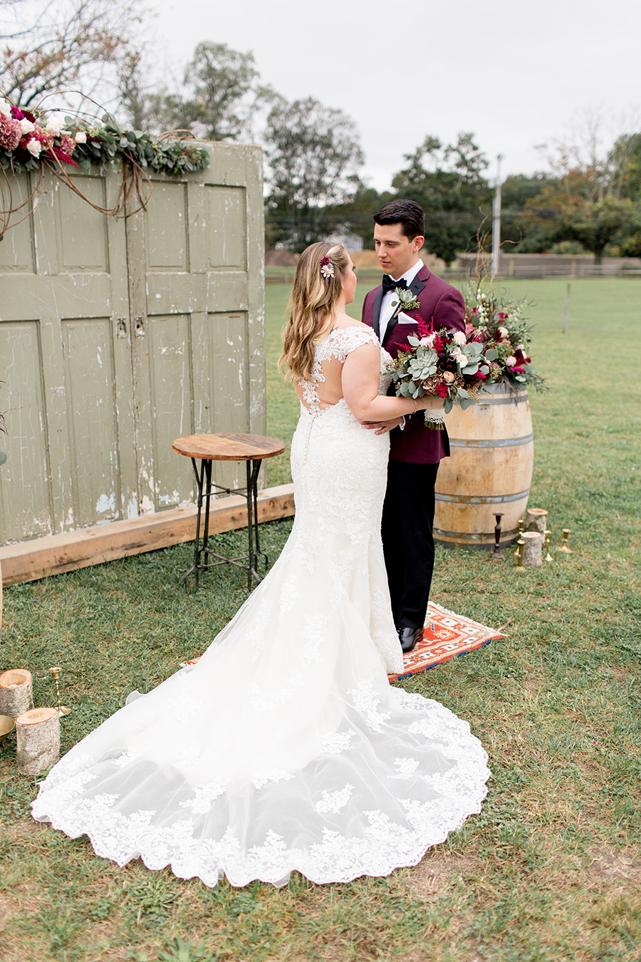 burgundy boho wedding inspiration