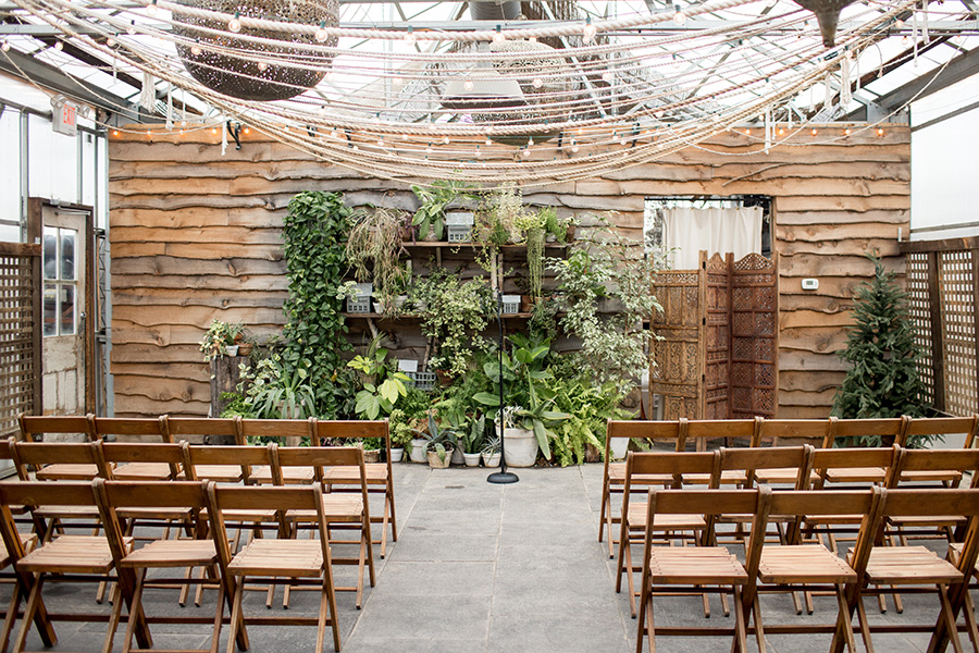 indoor ceremony at terrain at styers