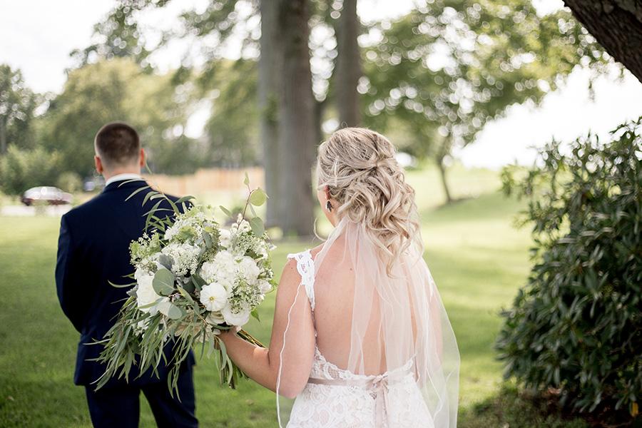 bride surprises her groom