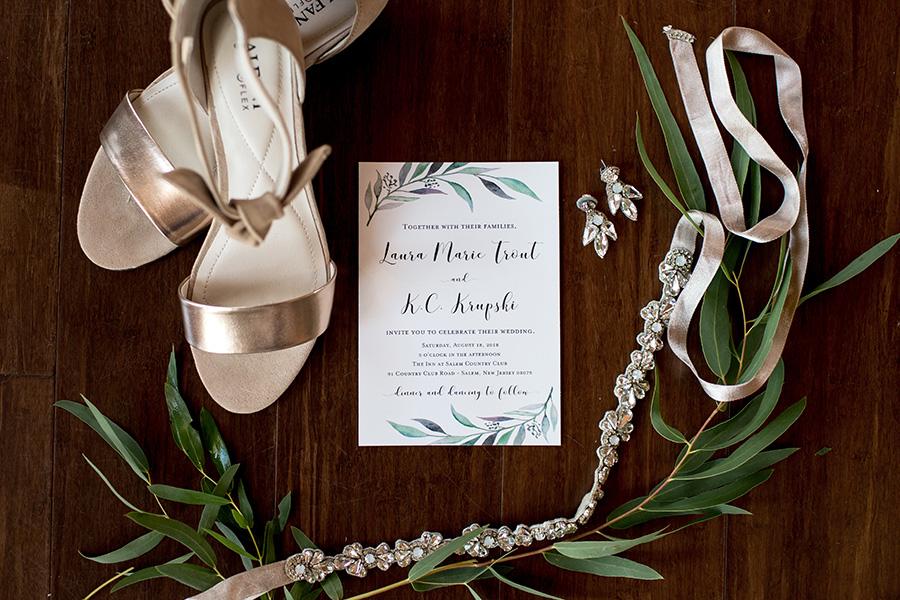 botanical wedding day details