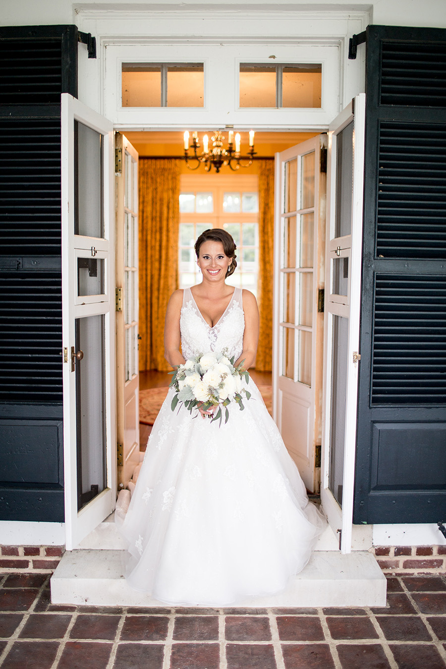 bride on her wedding day at Chateau Bu-De