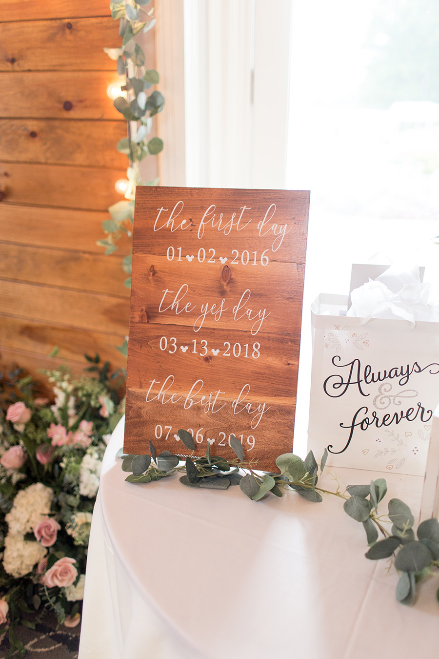 wedding day signage decorations