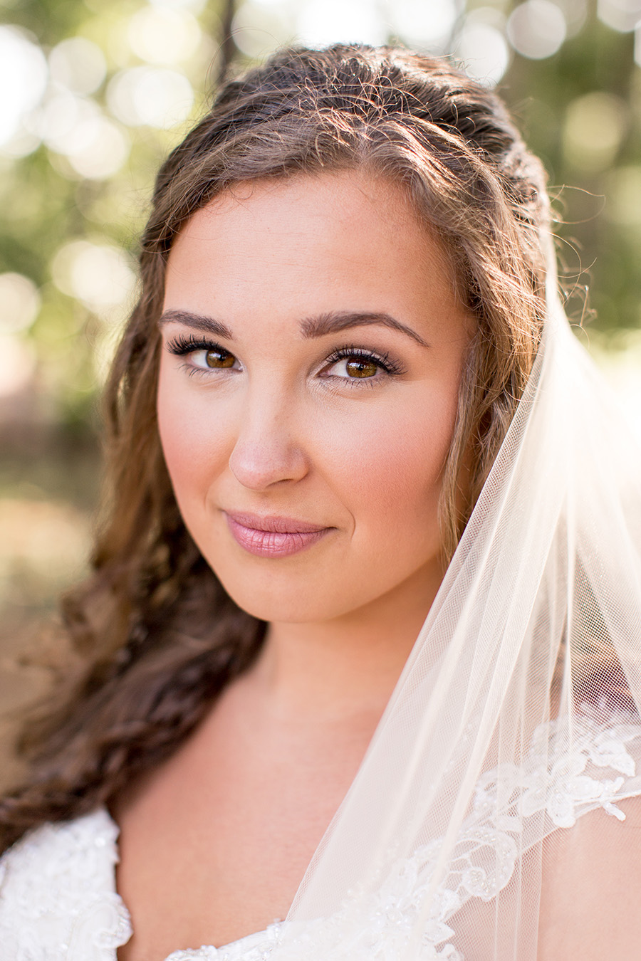 bride with her flawless wedding day makeup