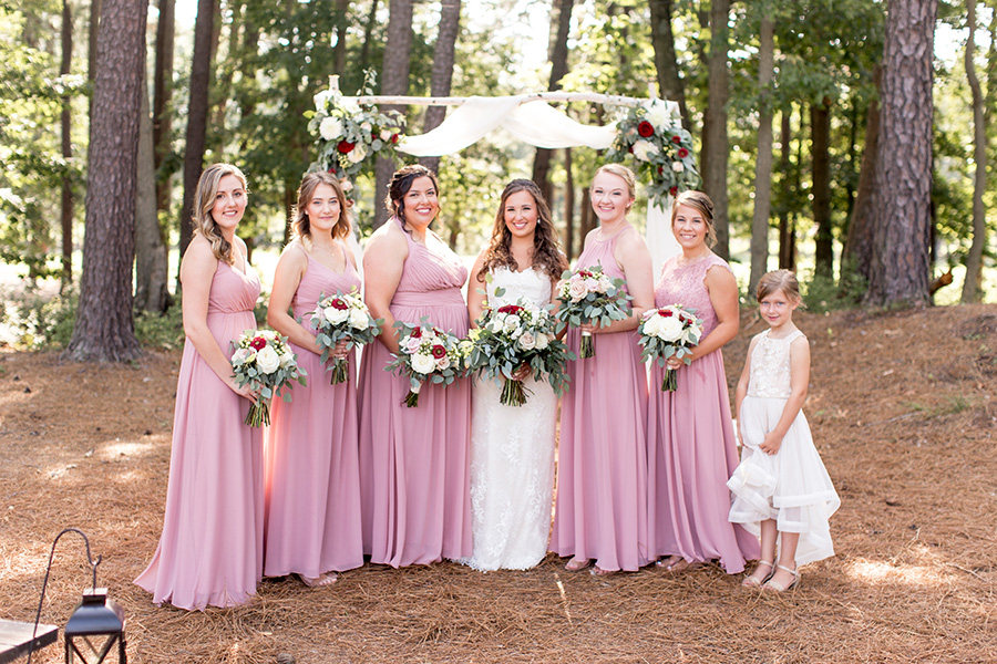 dusty rose colored bridesmaid dresses
