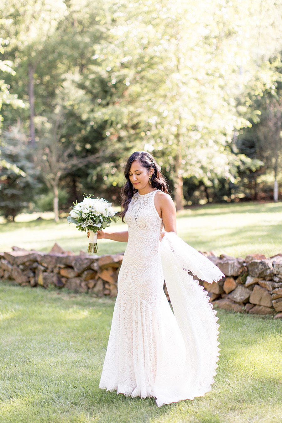 natural light portraits with the bride