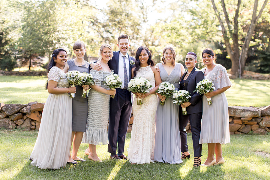 mix matched bridal party