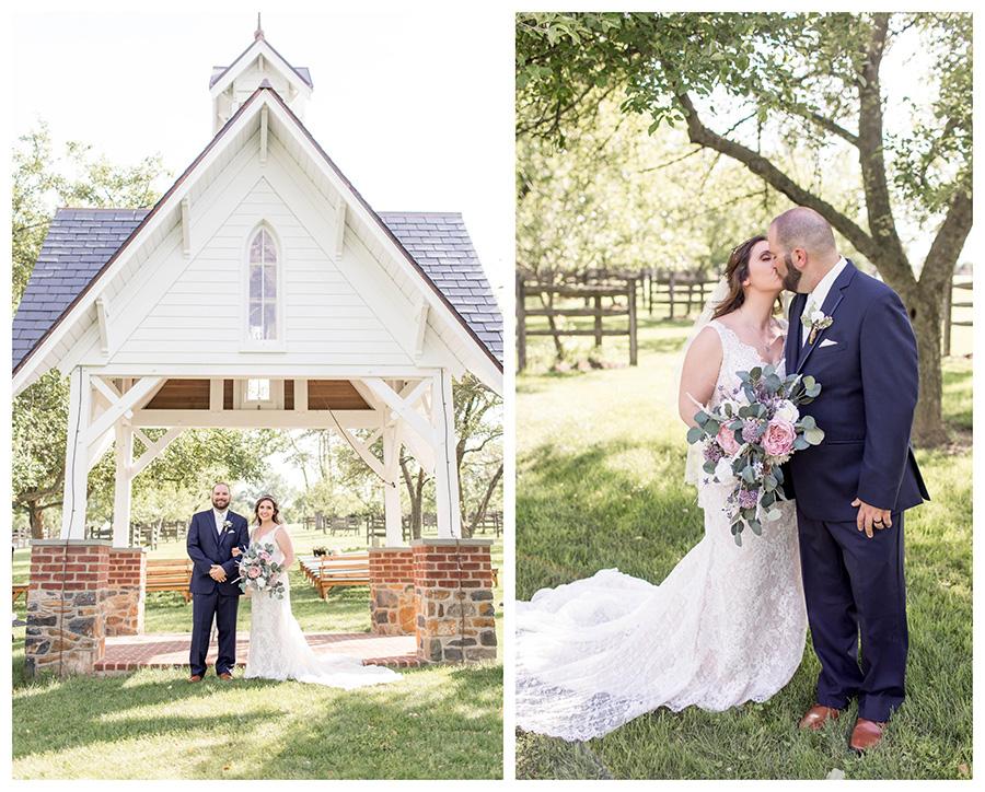 wedding day portraits at ironstone ranch