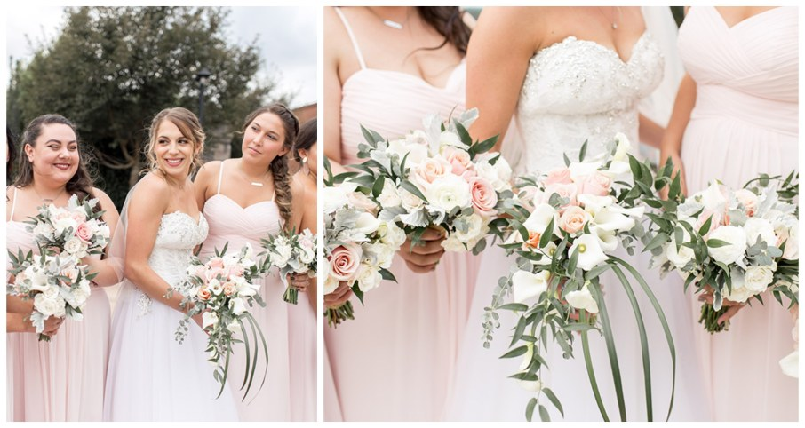 delicate blush wedding bouquets