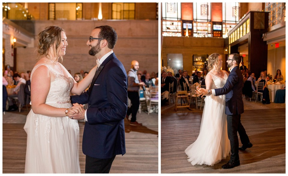 couple's first dance at union trust