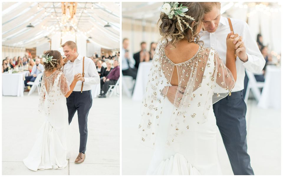 First wedding dance in the greenhouse at Bast Brothers