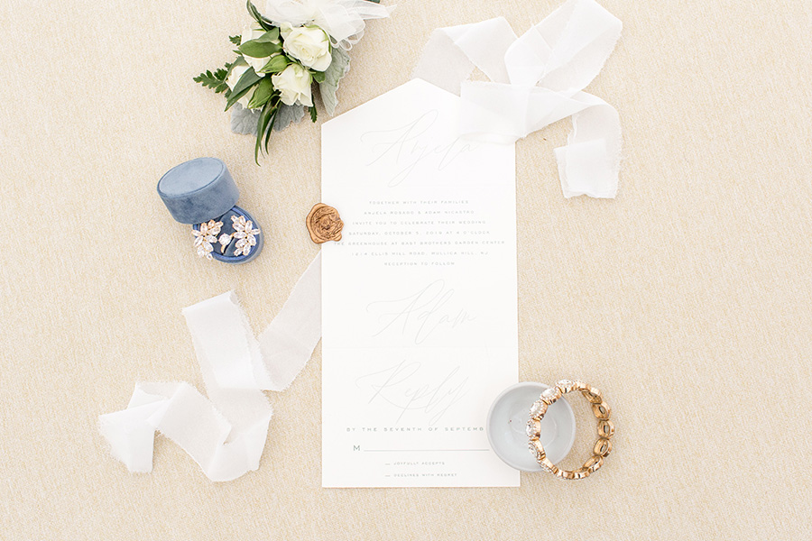 Minimalist wedding detail at Bast Brothers