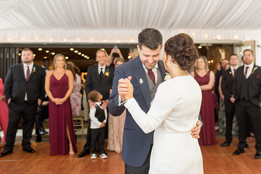 Wedding couple's first dance at Olde Mill Inn