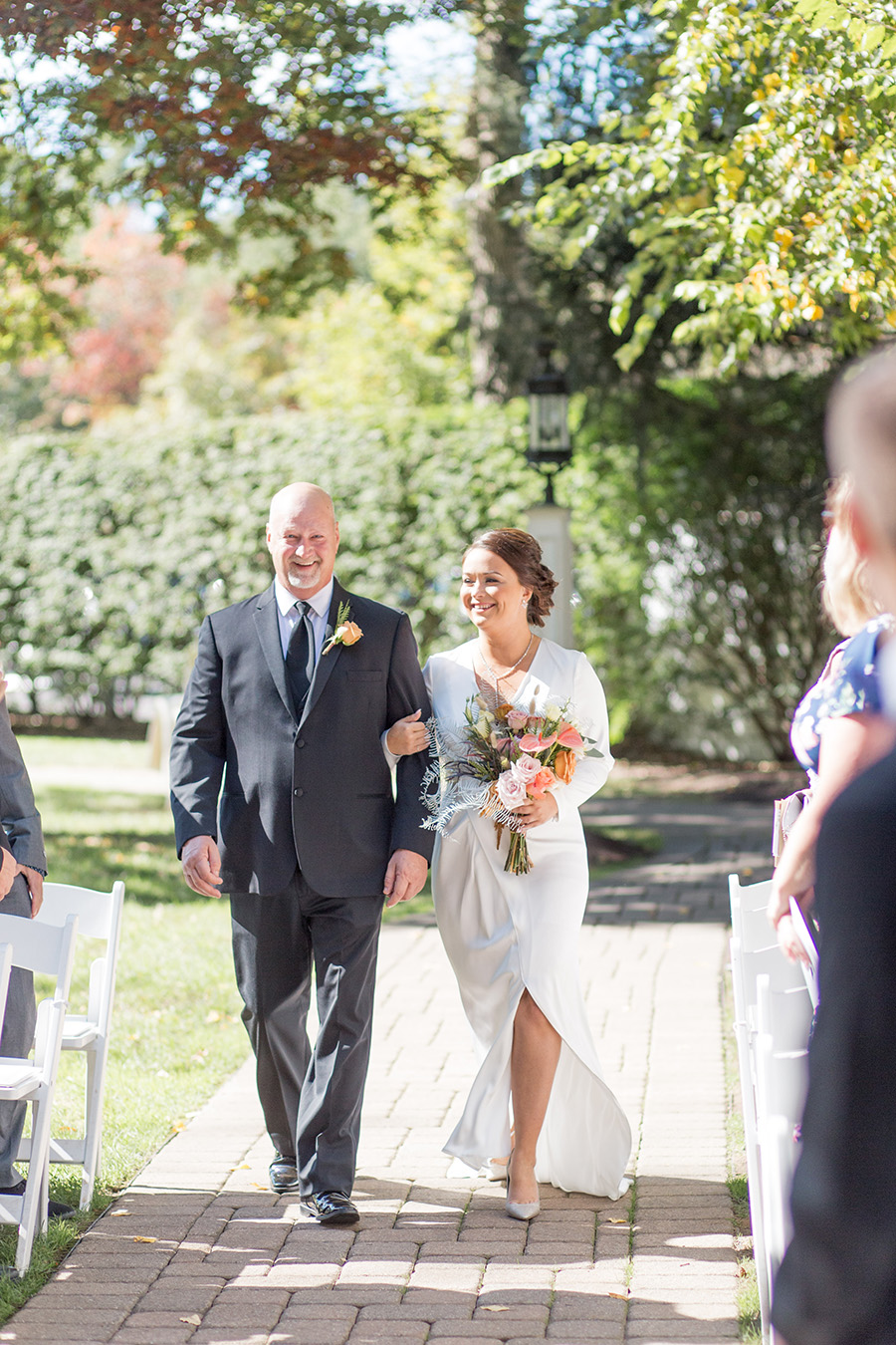 Outdoor wedding ceremony at Olde Mill Inn
