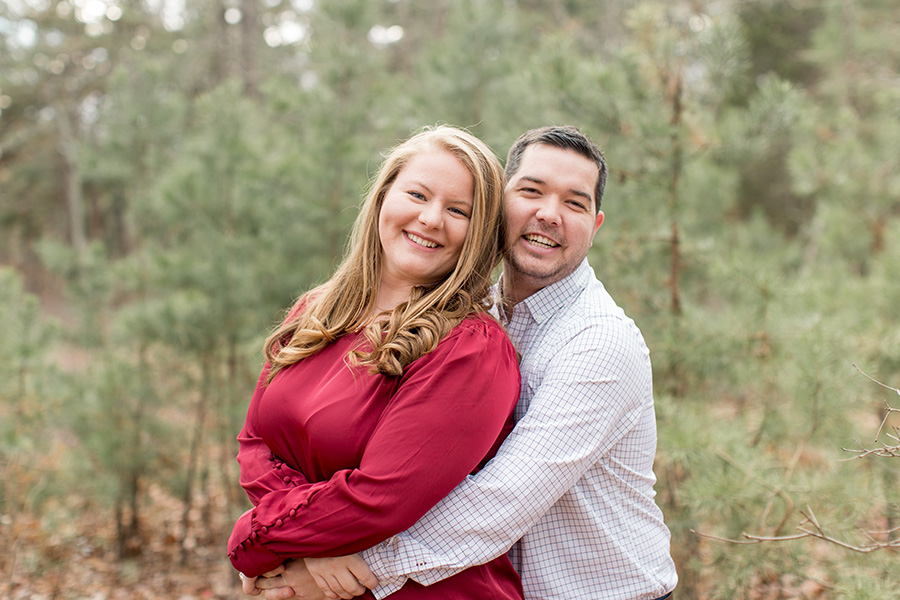 winter engagement session at parvin state park