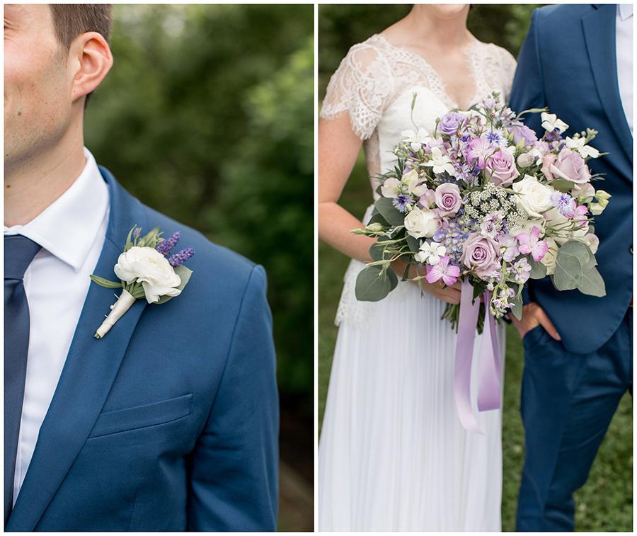 lavender wedding flower detail