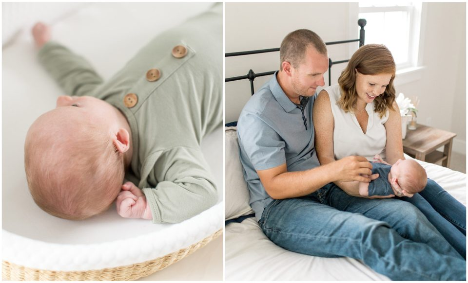 at home newborn session
