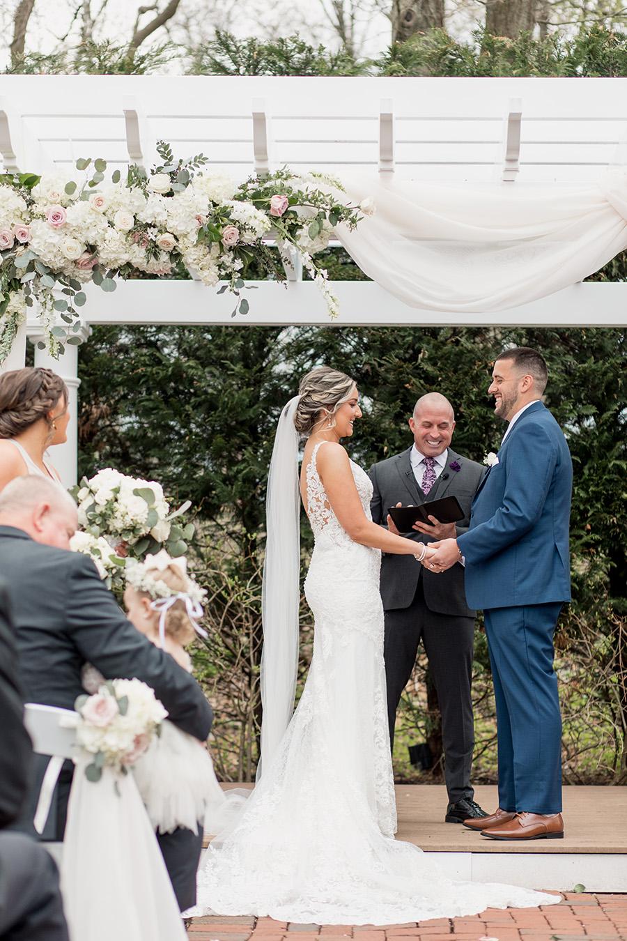 wedding ceremony at the Bradford Estate