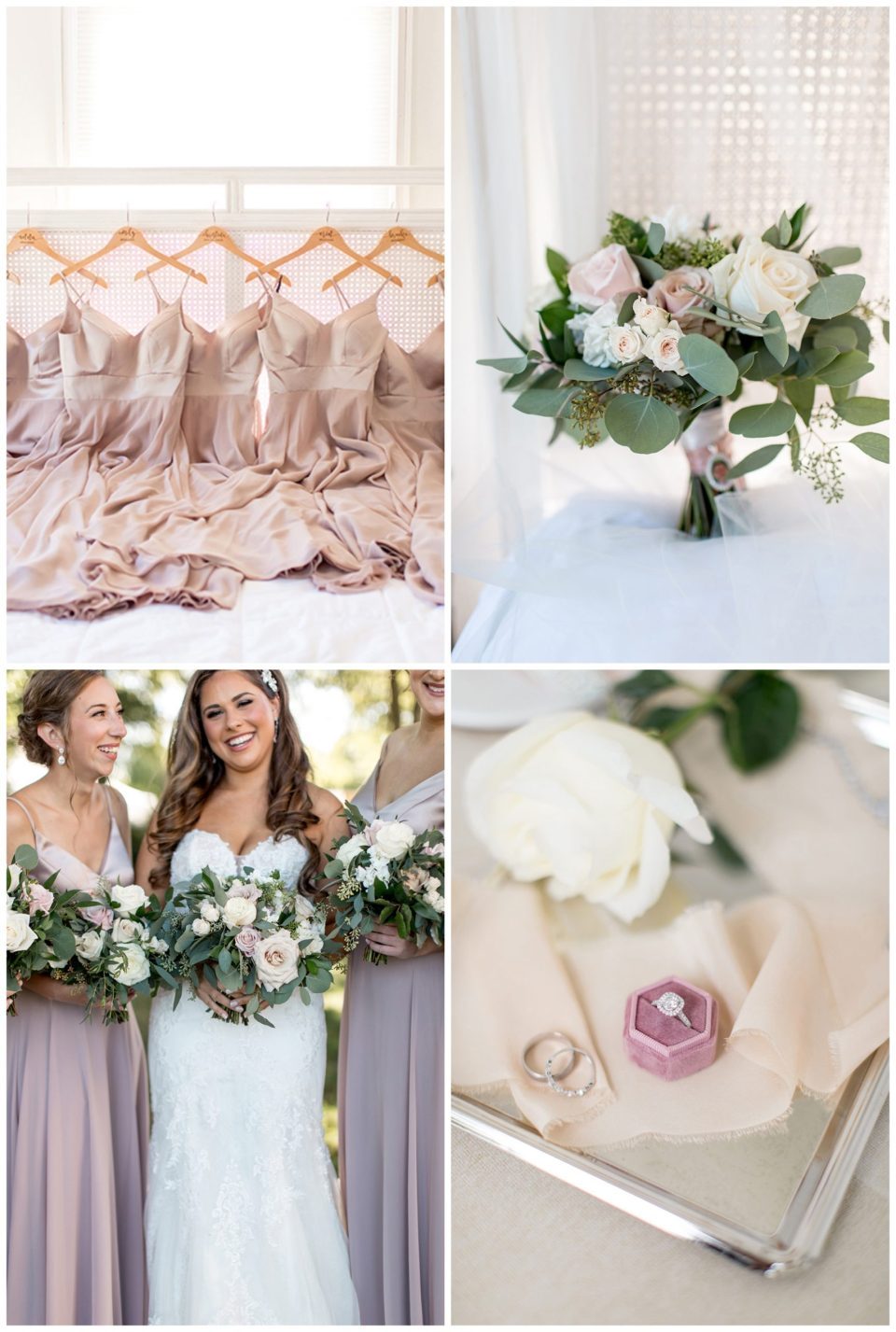 neutral blush and cream bridesmaid color pallete