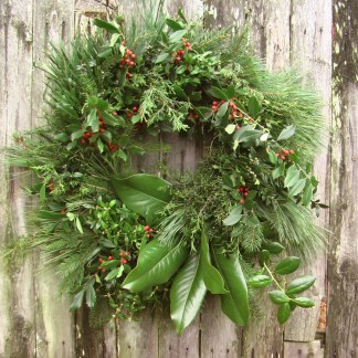 Christmas wreath, fresh, small