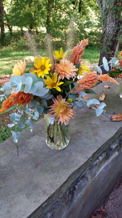 bouquet fresh large mason jar