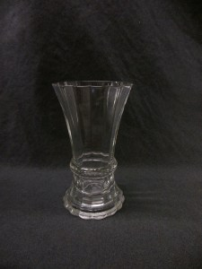 picture of vintage heavy glass vase