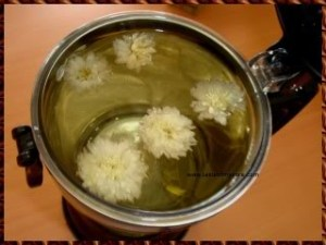 picture of cup of chrysanthemum tea