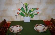 spring restaurant table setting